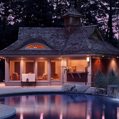 Hingham Pool House Exterior